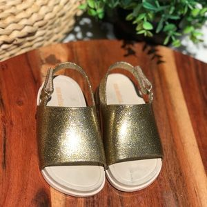 Mini melissa🍁🍂glittery sandals size 8